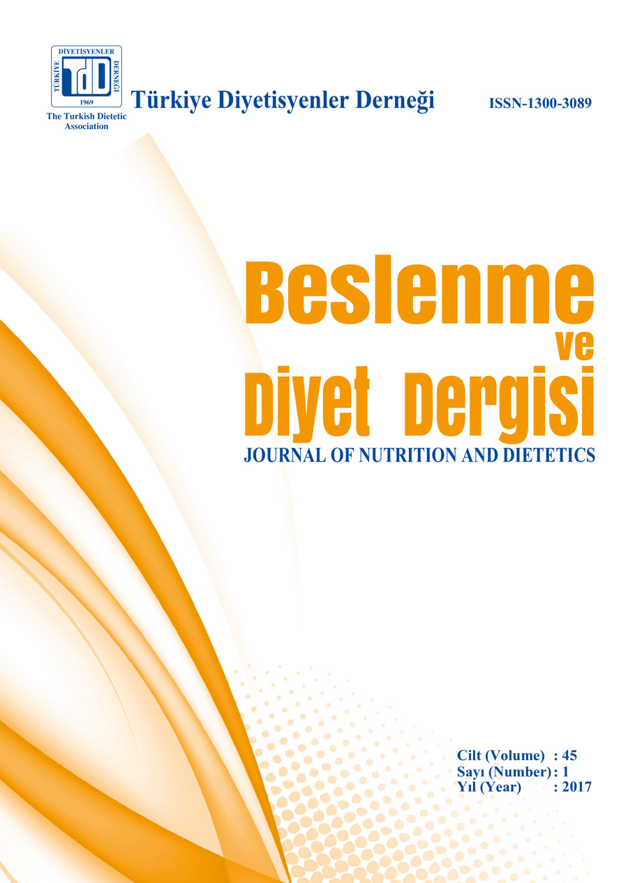 Beslenme ve Diyet Dergisi / Journal of Nutrition and Dietetics 45(1)