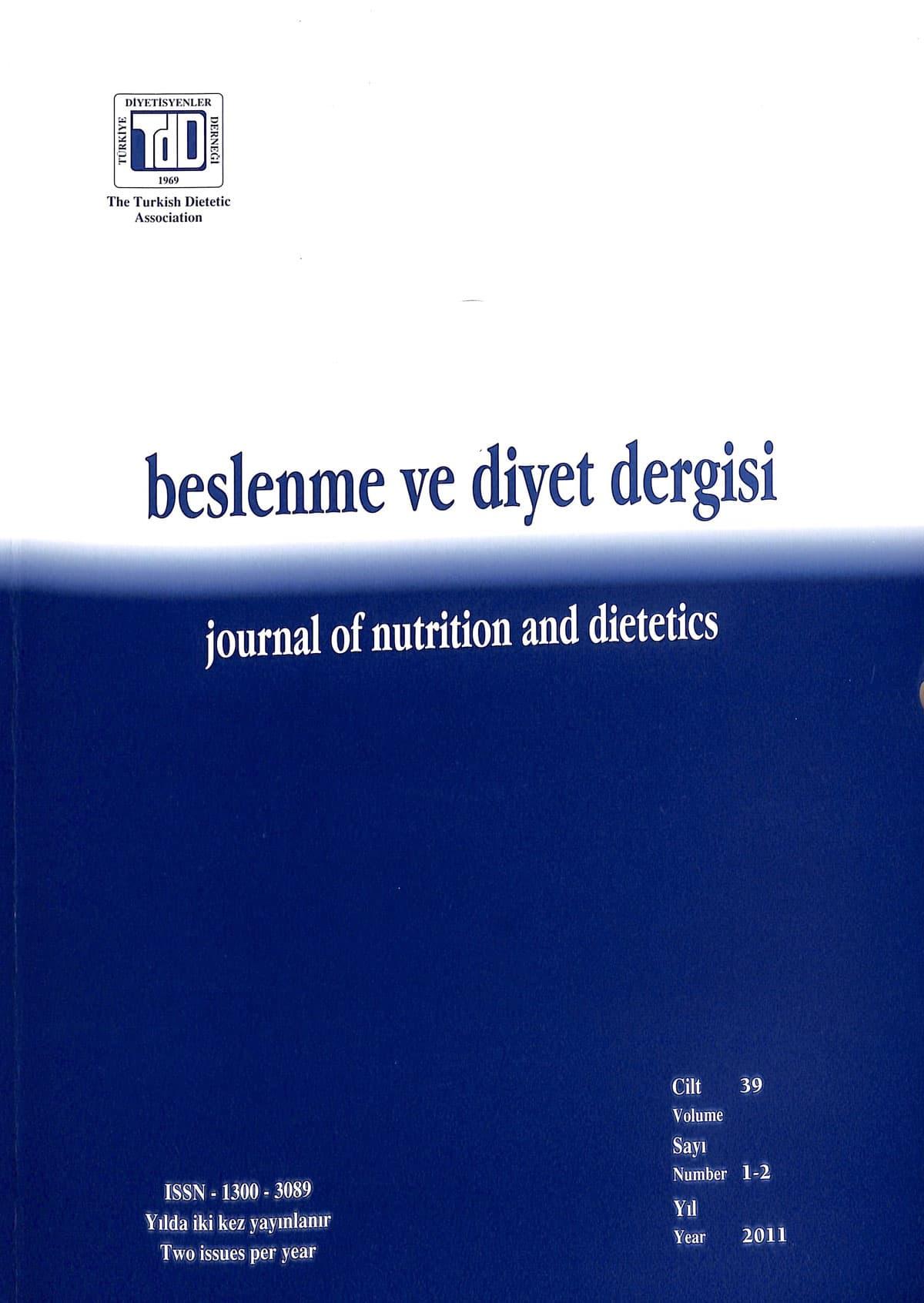 Cilt 39 Sayı 1-2 (2011)