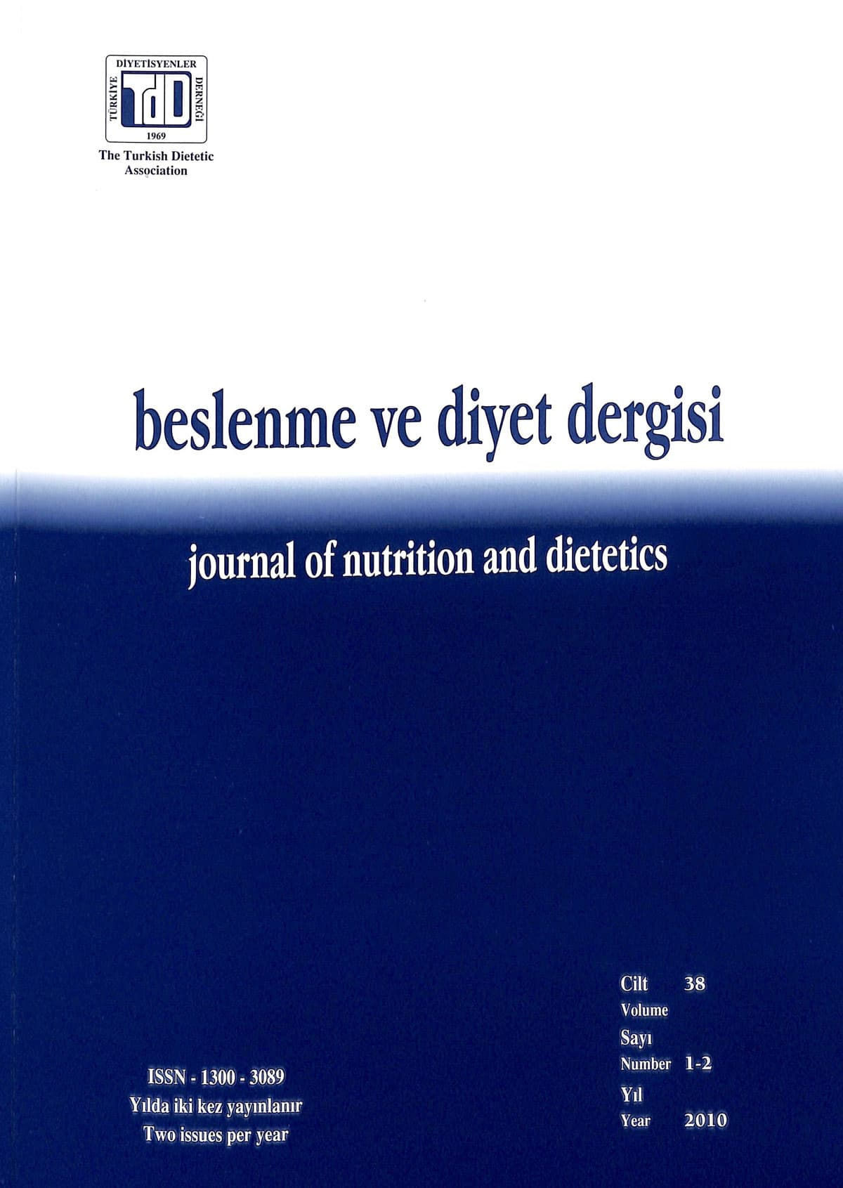 Cilt 38 Sayı 1-2 (2010)