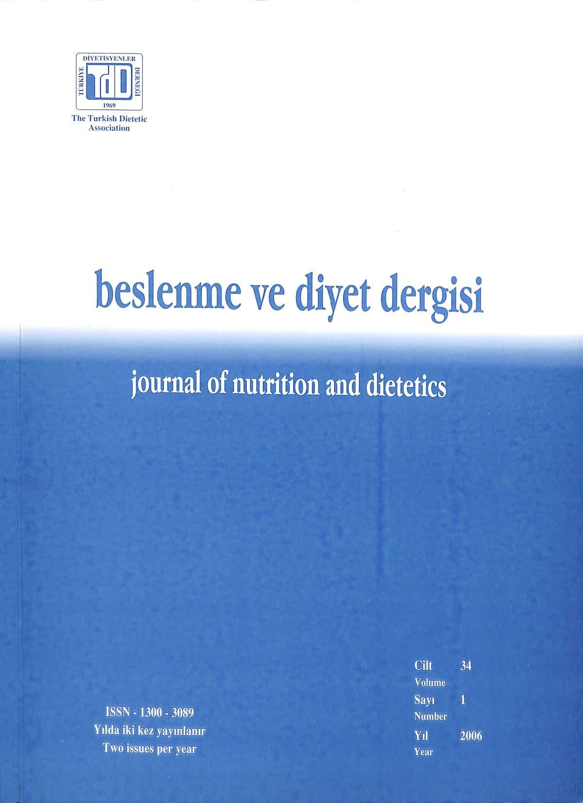 Cilt 34 Sayı 1 (2006)