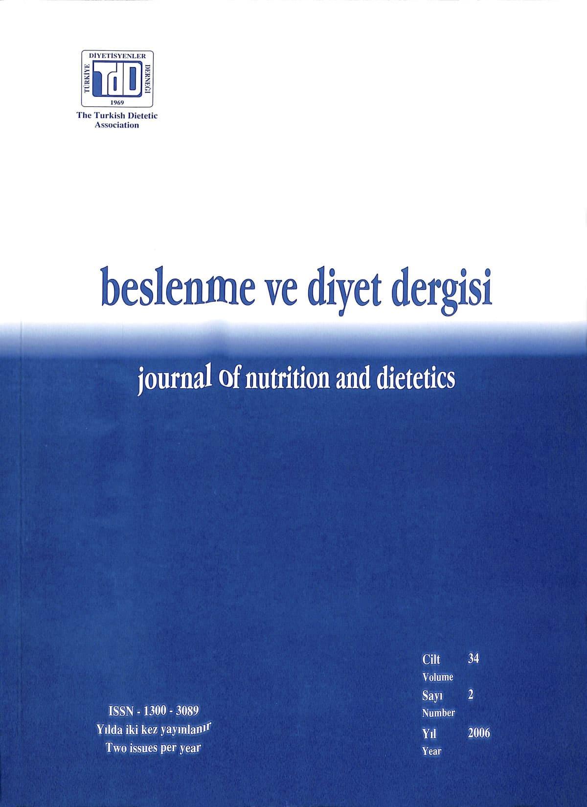 Cilt 34 Sayı 2 (2006)
