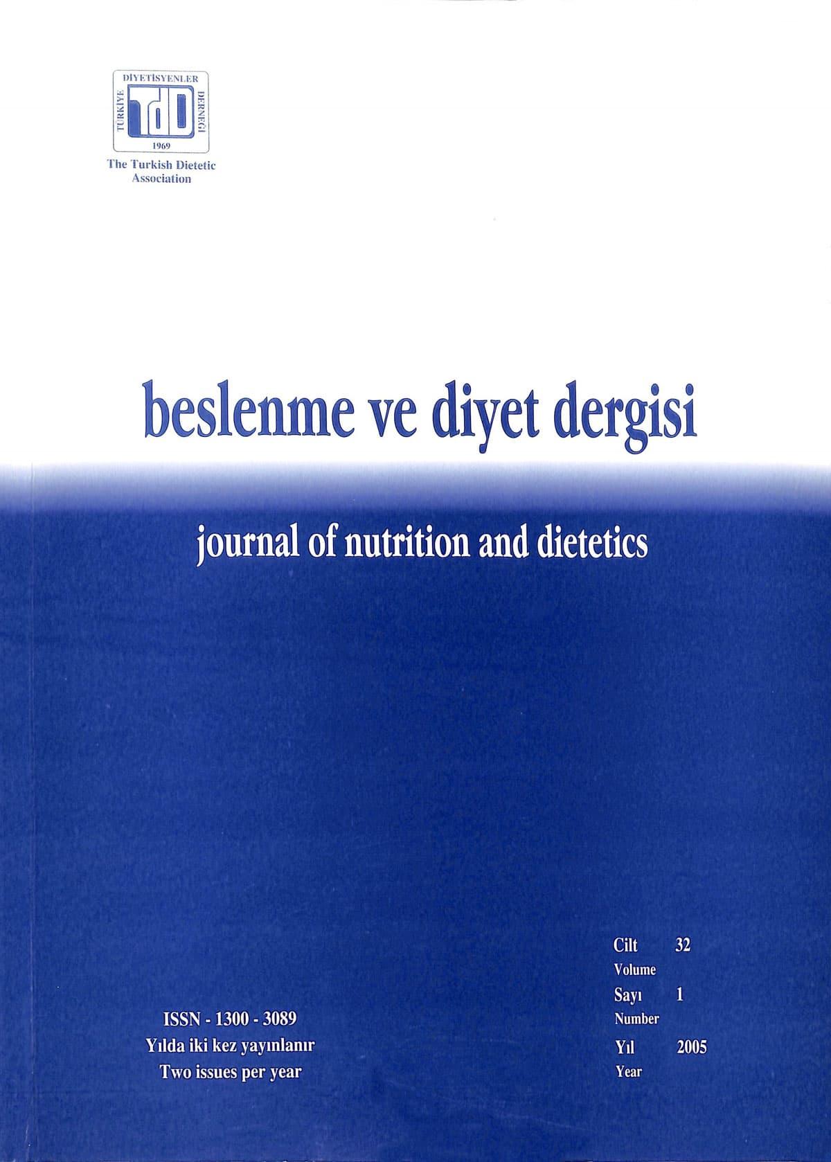 Cilt 33 Sayı 1 (2005)