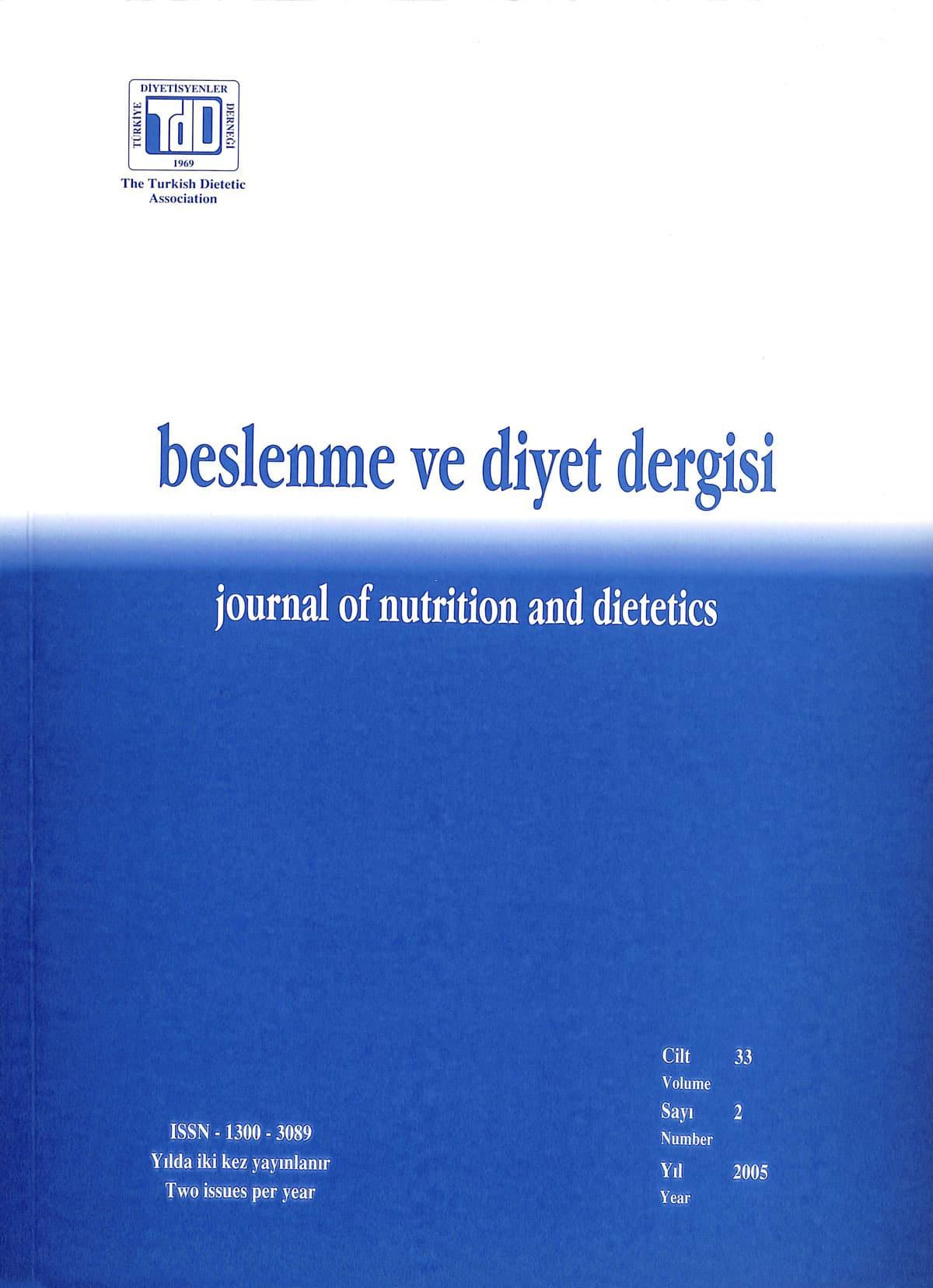 Cilt 33 Sayı 2 (2005)