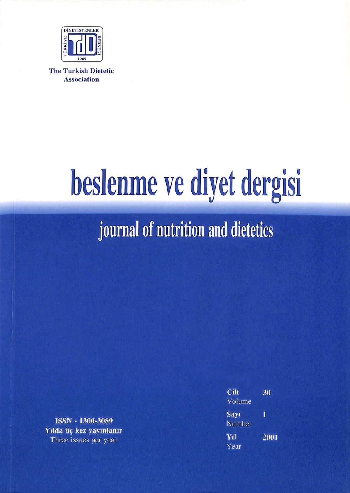 Cilt 30 Sayı 1 (2001)
