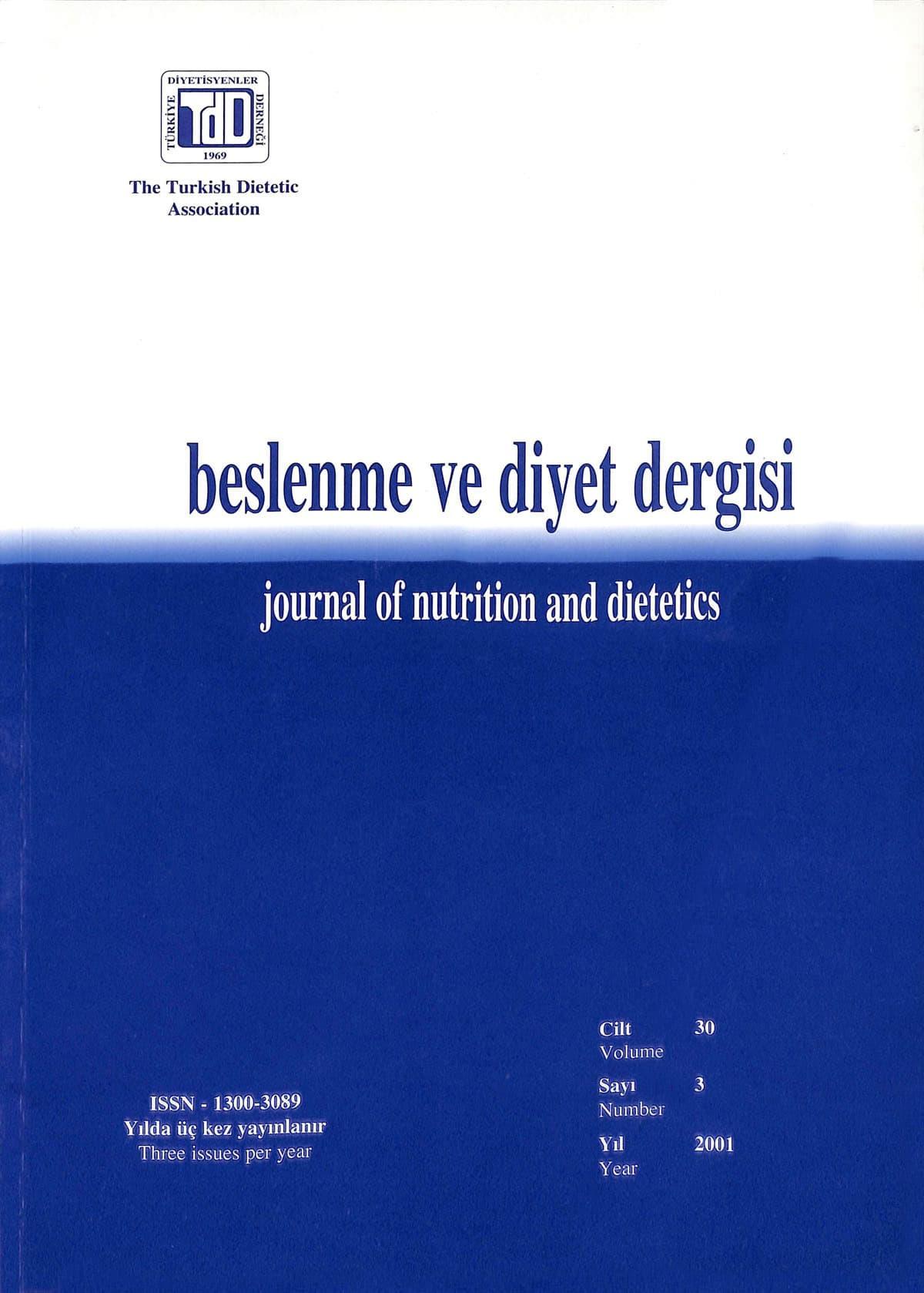 Cilt 30 Sayı 2 (2001)