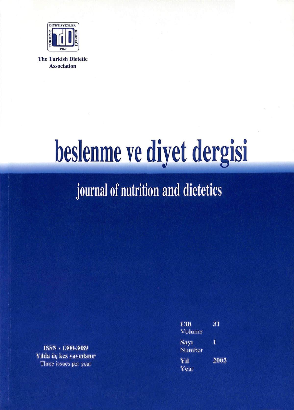 Cilt 31 Sayı 1 (2002)