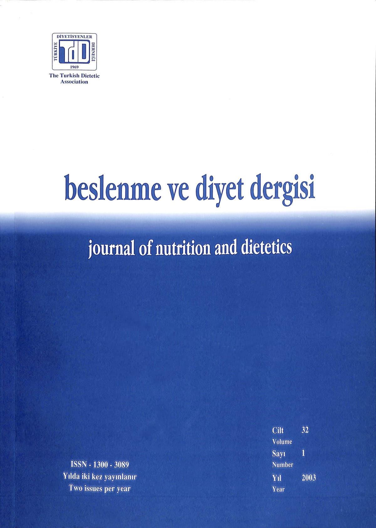 Cilt 32 Sayı 1 (2003)