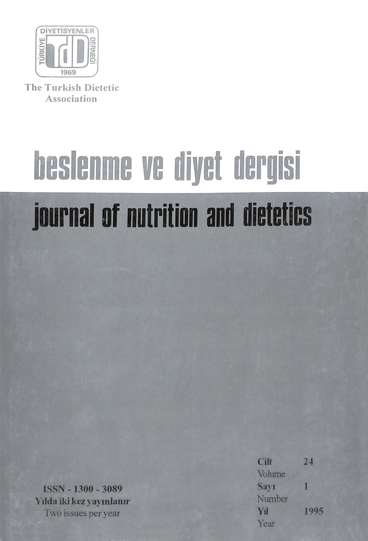 Cilt 24 Sayı 1 (1995)