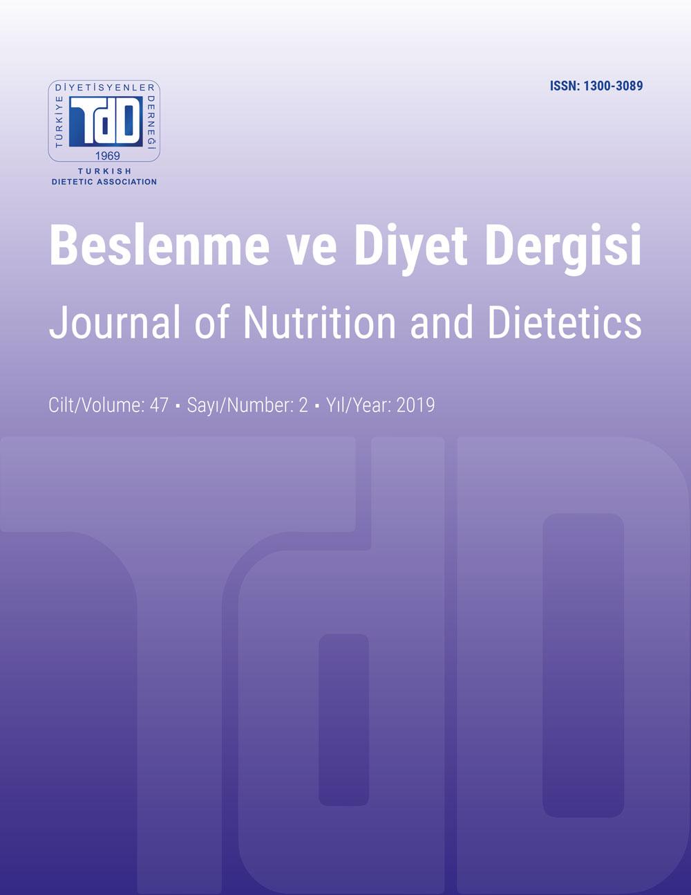 Beslenme ve Diyet Dergisi Cilt 47, Sayı 2