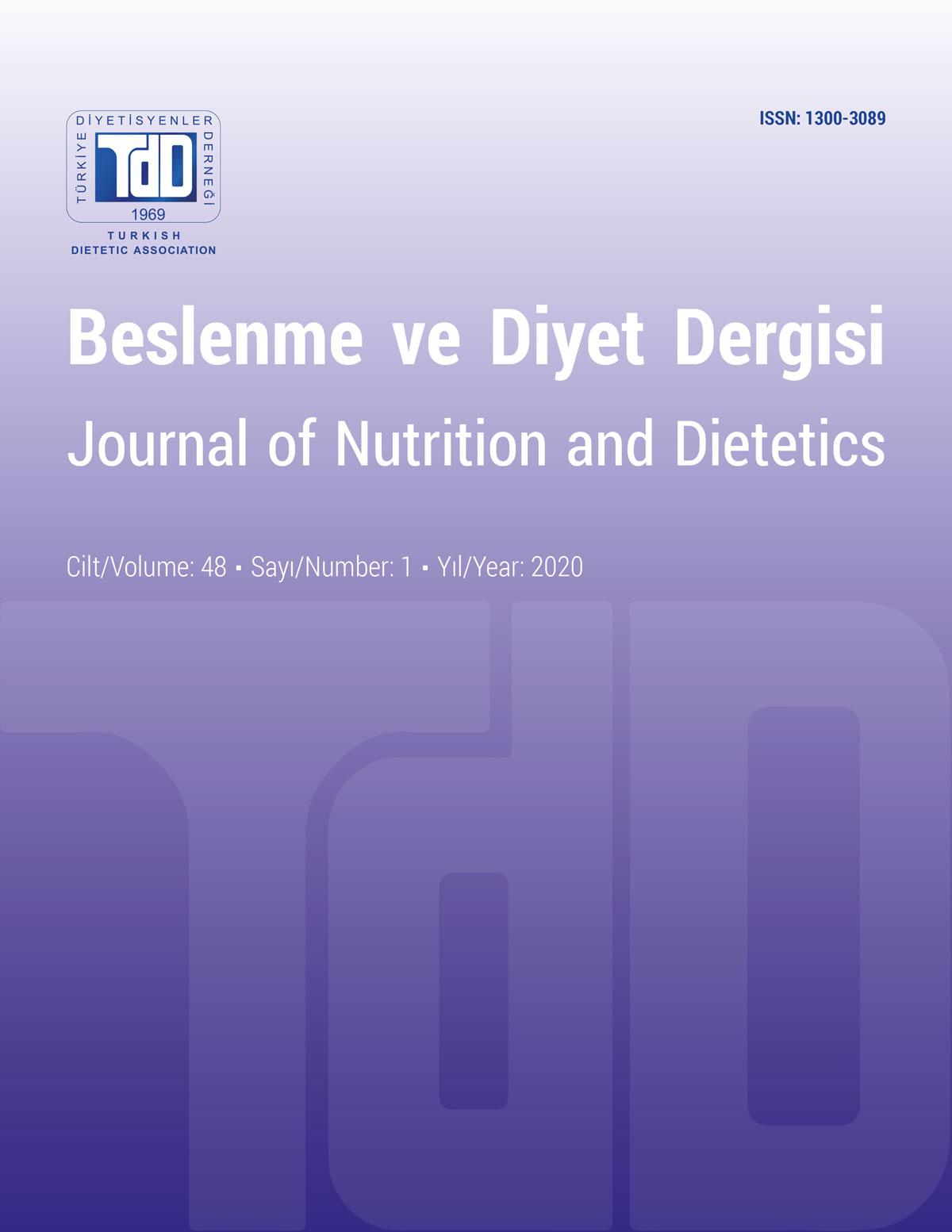 Beslenme ve Diyet Cilt 48 Sayı 1